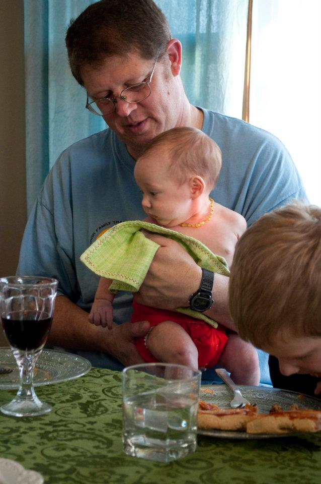 My Dad is great with babies. Particularly grandbabies. Photo Cred: Sonia Miller.