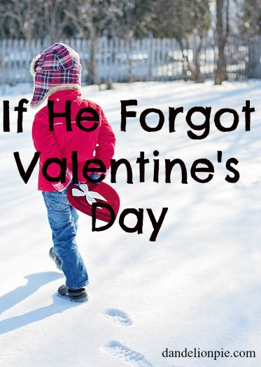 If He Forgot Valentine's Day {Or your Birthday or Mother's Day}