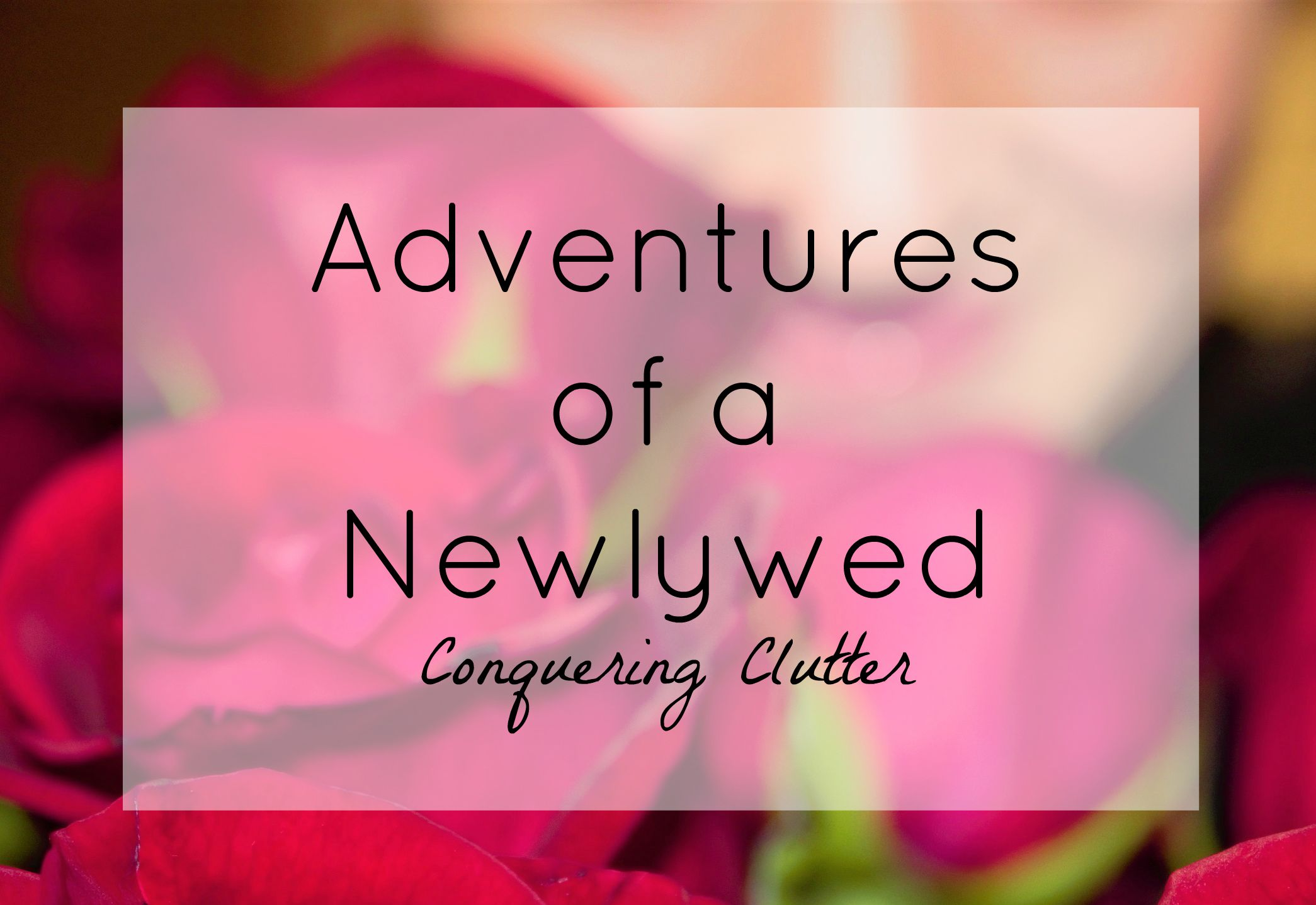 Adventures of a Newlywed // Conquering Clutter