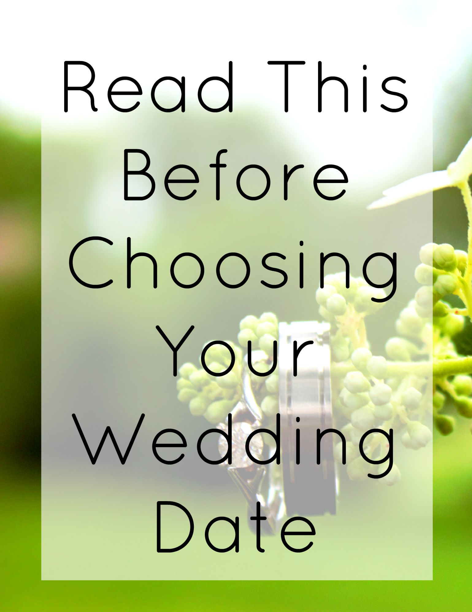 Read This Before Choosing Your Wedding Date