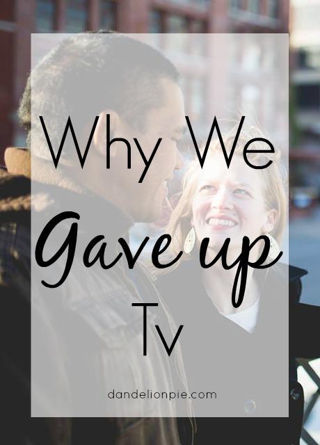 Why We Gave Up Tv / Dandelion Pie