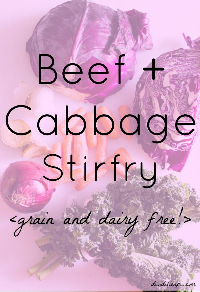 Beef and Cabbage Stirfry to Cure the Winter Blues #stirfry #beef #cabbage #recipe #grainfree #glutenfree #dairyfree #sugarfree #paleo