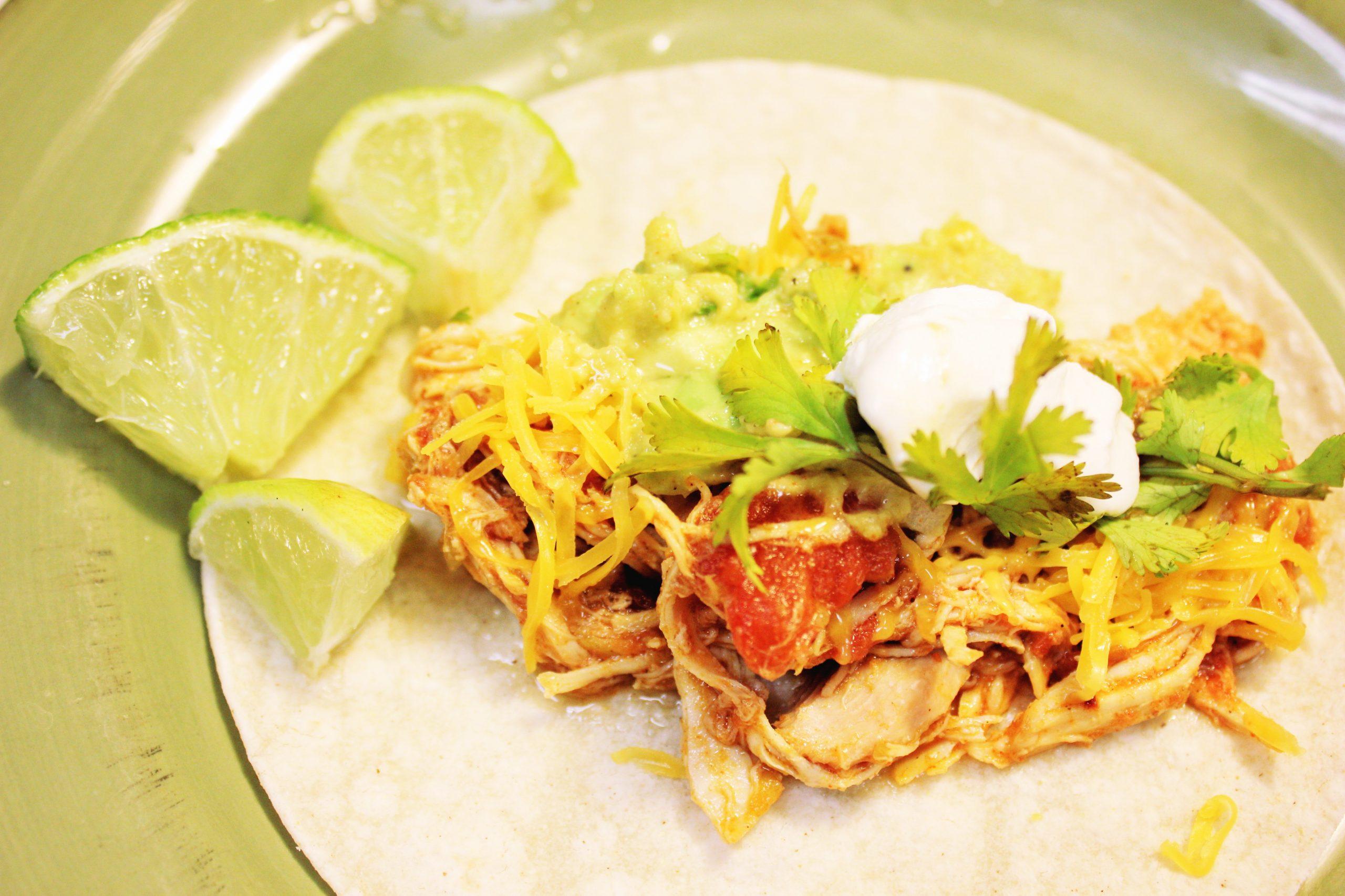 4-Ingredient Slow Cooker Chicken Tacos
