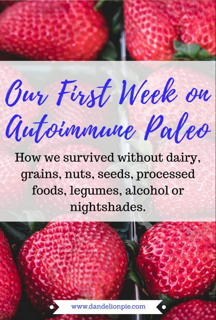 Our First Week on Autoimmune Paleo Diet (and how we survived!) #aip #autoimmune #paleo #eczema #diet #health