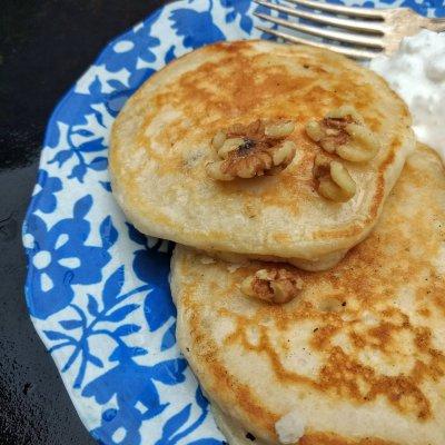 Coconut Walnut Pancakes