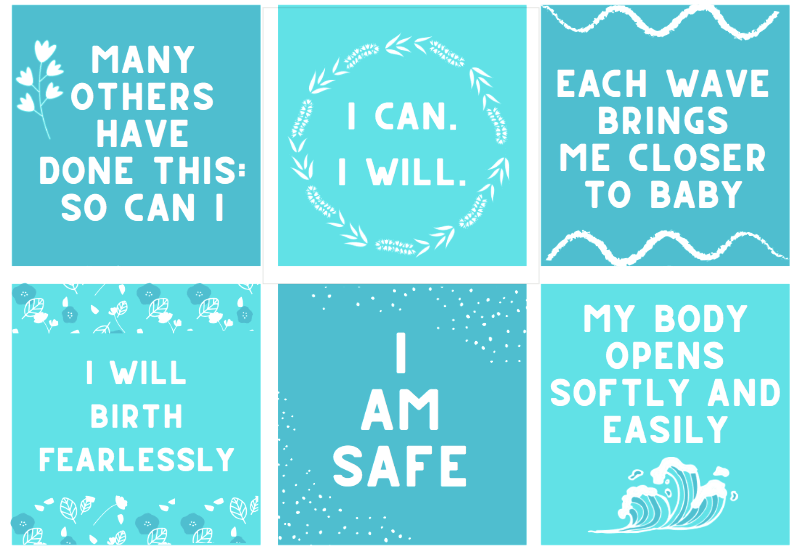 FREE Birth Affirmations Printable